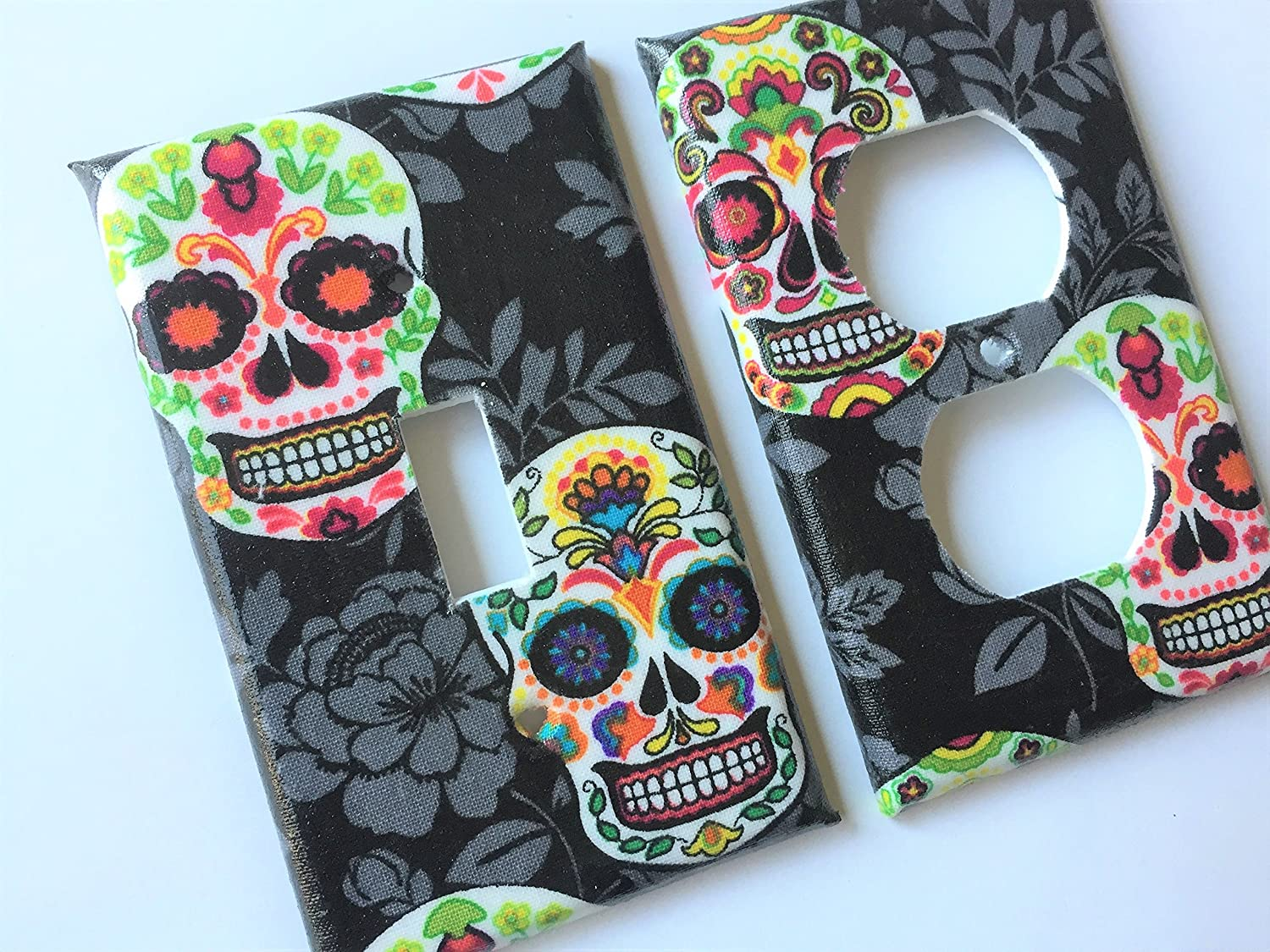 Sugar Skull Light Switch Cover Day of The Dead - Various Size Light Switchplates Offered