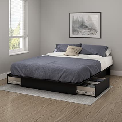 8da5eefde7eb91 Amazon.com: South Shore Step One Platform Bed with 2 Drawers, Full ...