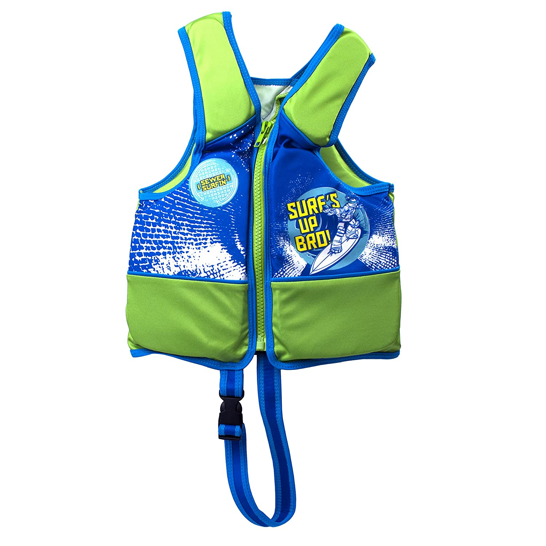 Teenage Mutant Ninja Turtles Swim Training Vest with Safety Strap