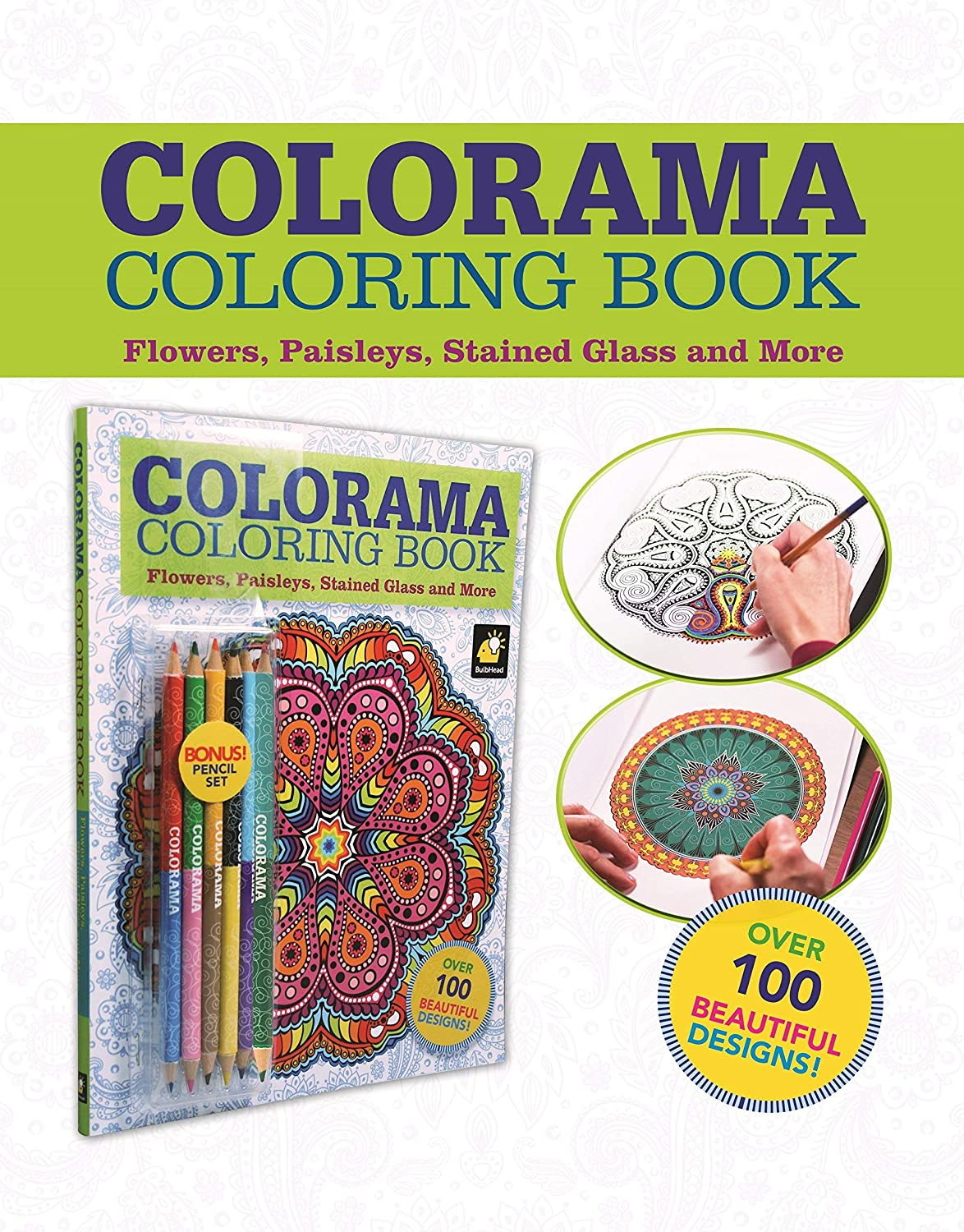 Colorama Coloring Book For Adults With 12 Colored Pencils Create