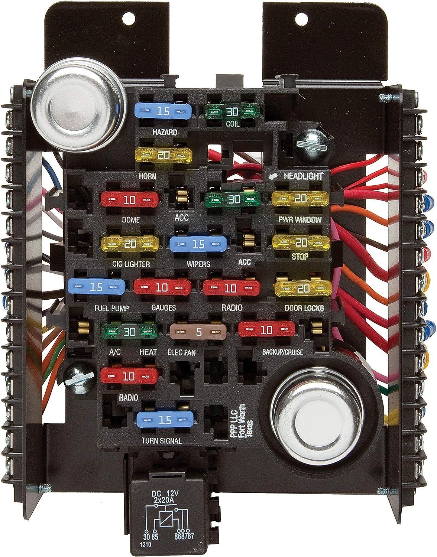 amazon.com: painless performance 30003 universal pre-wired 20-circuit fuse  block: automotive  amazon.com