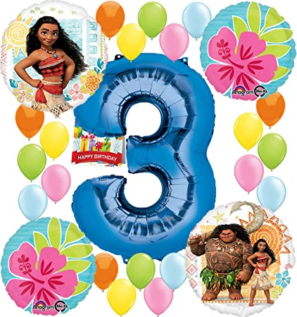 Amazon Moana Party Supplies Birthday Decorations Number Balloon
