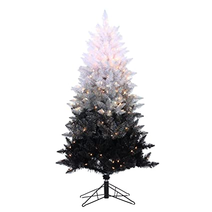 df7ab91bbf58 sterling shelf liners 5 ft pre lit black ombre spruce artificial christmas  tree