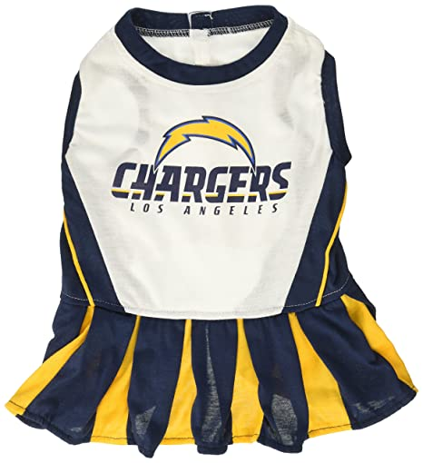 7bceeca6d Image Unavailable. Image not available for. Color  Pets First NFL Los  Angeles Chargers Cheerleader Dress ...