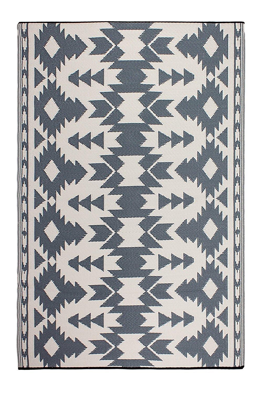 Fab Hab - Miramar - Grau - Teppich/ Matte für den Innen- und Außenbereich (120 cm x 180 cm)