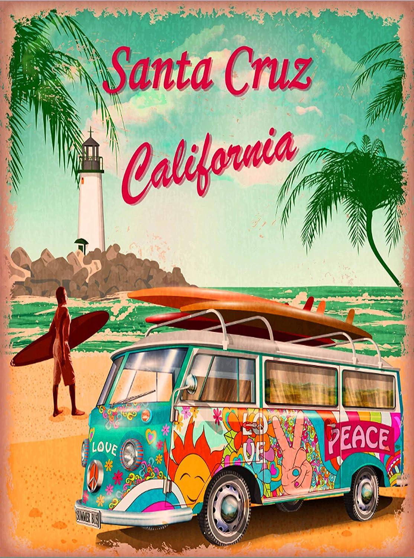 California Beaches Vintage travel posters Rétro Print