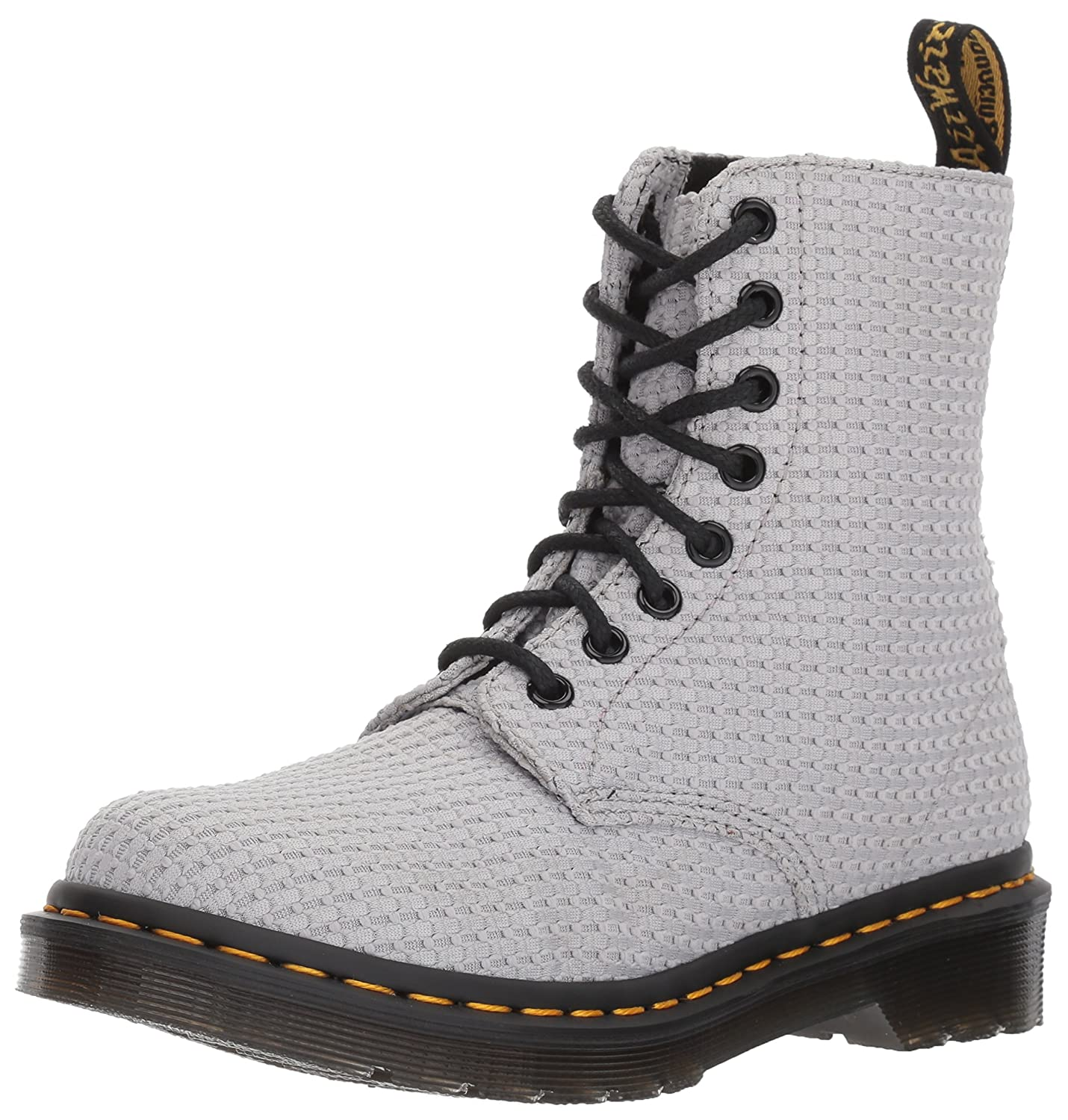 Dr. Martens Women's Page WC Fashion Boot B01MZ6W74Z 8 Medium UK (10 US)|Mid Grey Waffle Cotton
