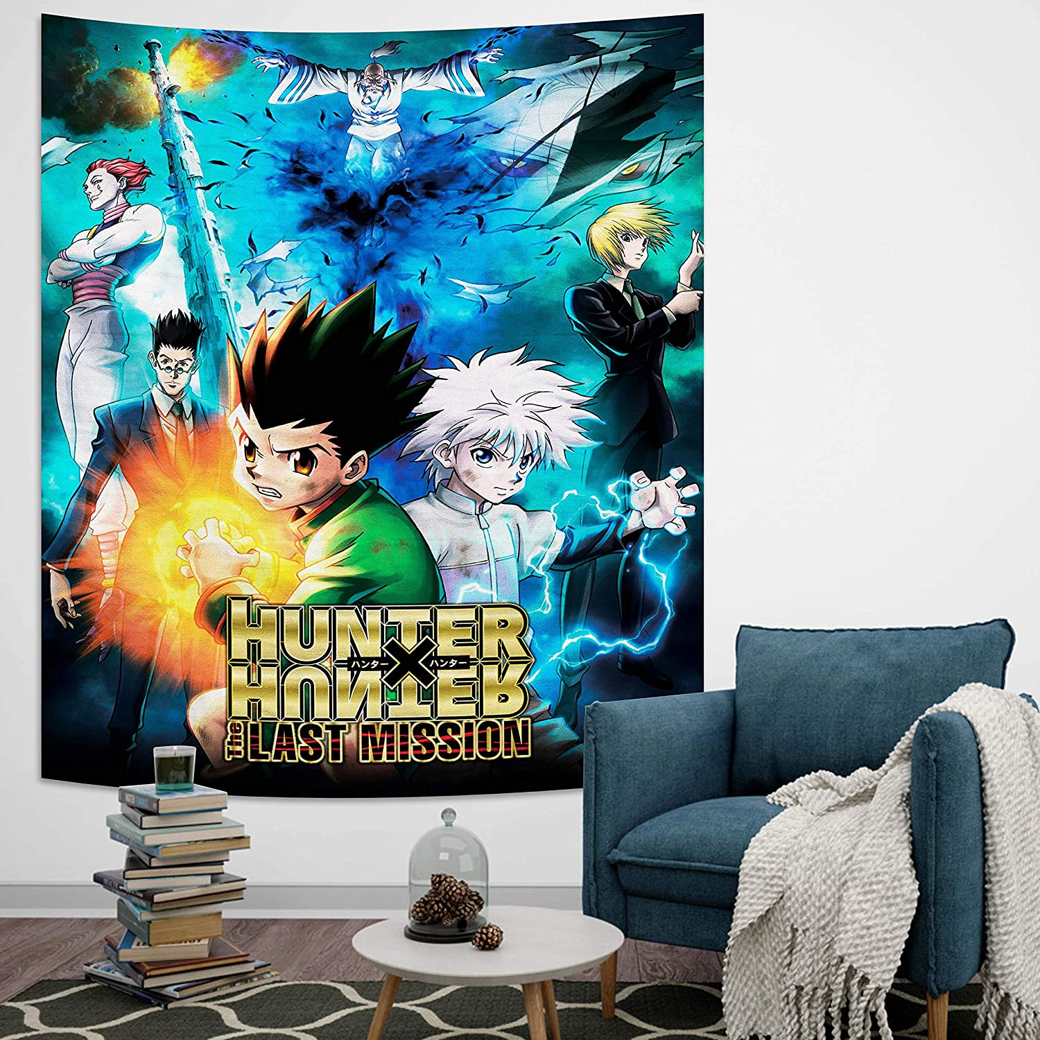 Wieco Hunter x Hunter Tapestry Anime Tapestry for Bedroom Decor Birthday Party Gifts 50x60in