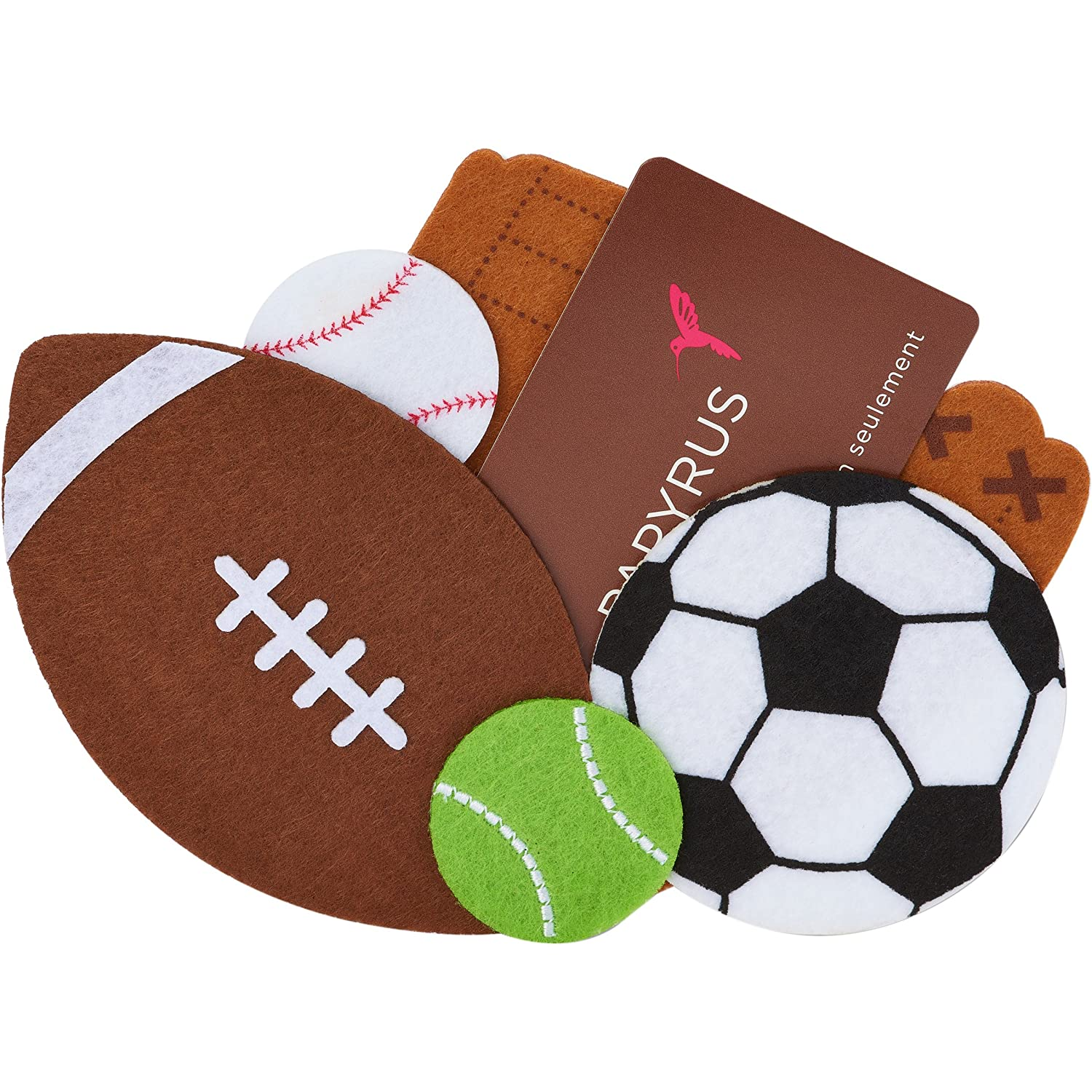 Gift Card Holder 5'X1'X5' 1/Pkg-Sports Icons Papyrus