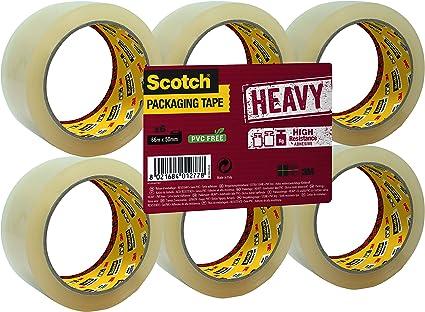 Scotch Nastro da Imballo 3M Packaging Tape Heavy//Nastro Adesivo Ultra Resistente Avana 50mm x 50m Confezione da 1 Rotolo