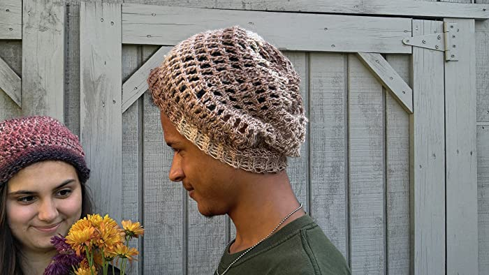 0c485101459 Image Unavailable. Image not available for. Color  Crochet Slouchy Beanie
