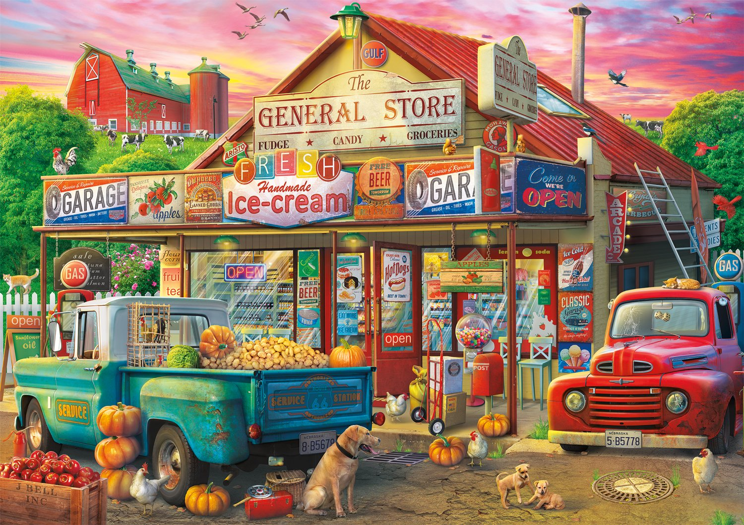 Buffalo Games - Americana Collection - Country Store - 500 Piece Jigsaw Puzzle by Buffalo Games (Image #1)