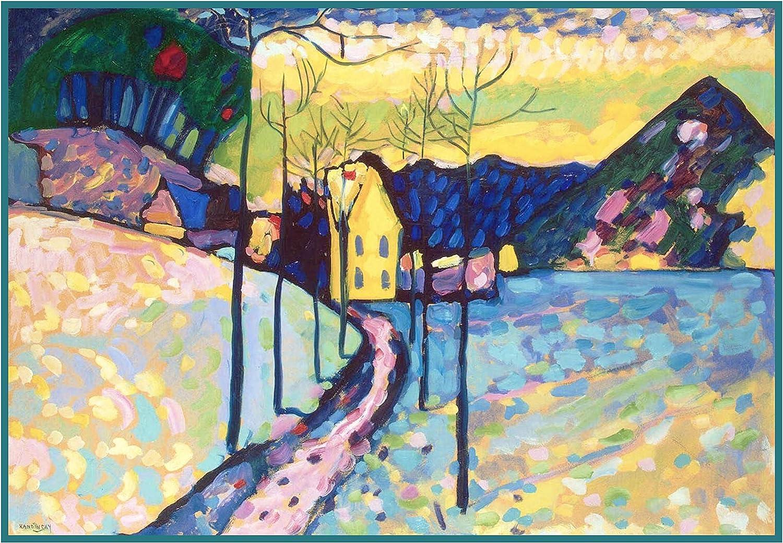 Blue Abstract by Modern Artist Kandinsky Counted Cross Stitch Pattern