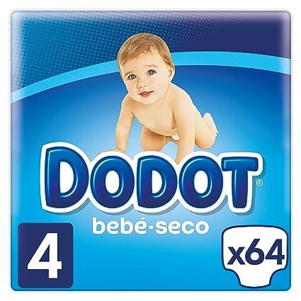 Dodot Bebé-Seco Pañales Talla 4, 64 Pañales, el unico Pañal con canales