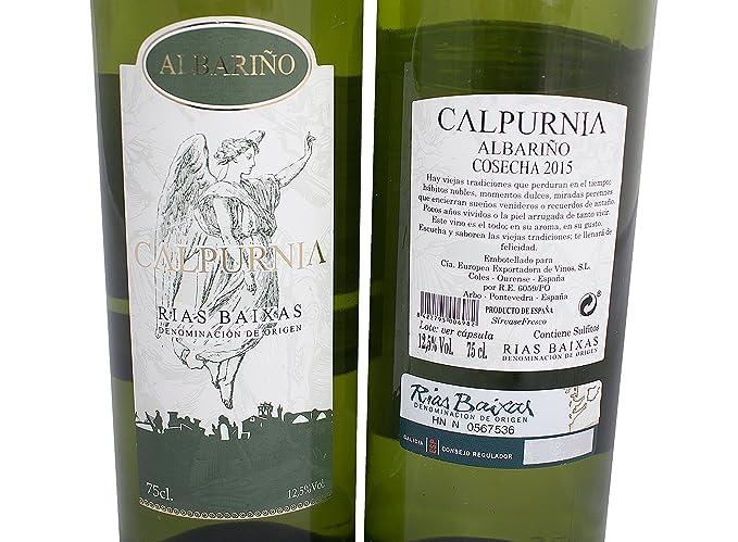 Vino Blanco Albariño Calpurnia D.O Rias Baixas 75cl: Amazon.es: Alimentación y bebidas