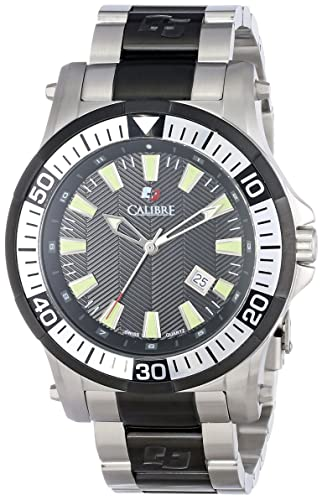 Calibre Men s SC-5H1-04-007 Hawk Date Analog Display Quartz Silver Watch