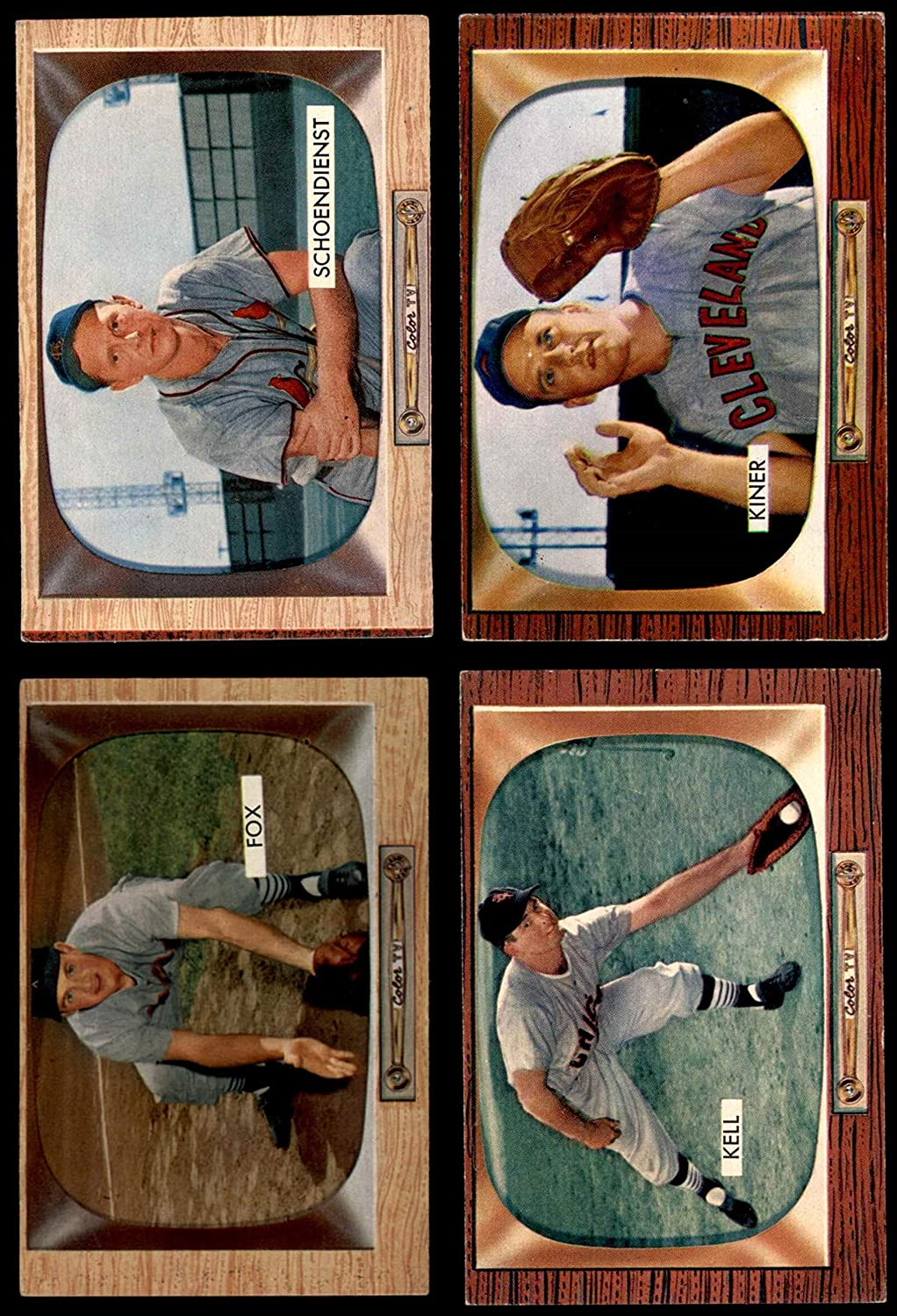 1955 Bowman Baseball 100 Card Starter Set/Lot (Baseball Set) Dean's Cards 4.5 - VG/EX+