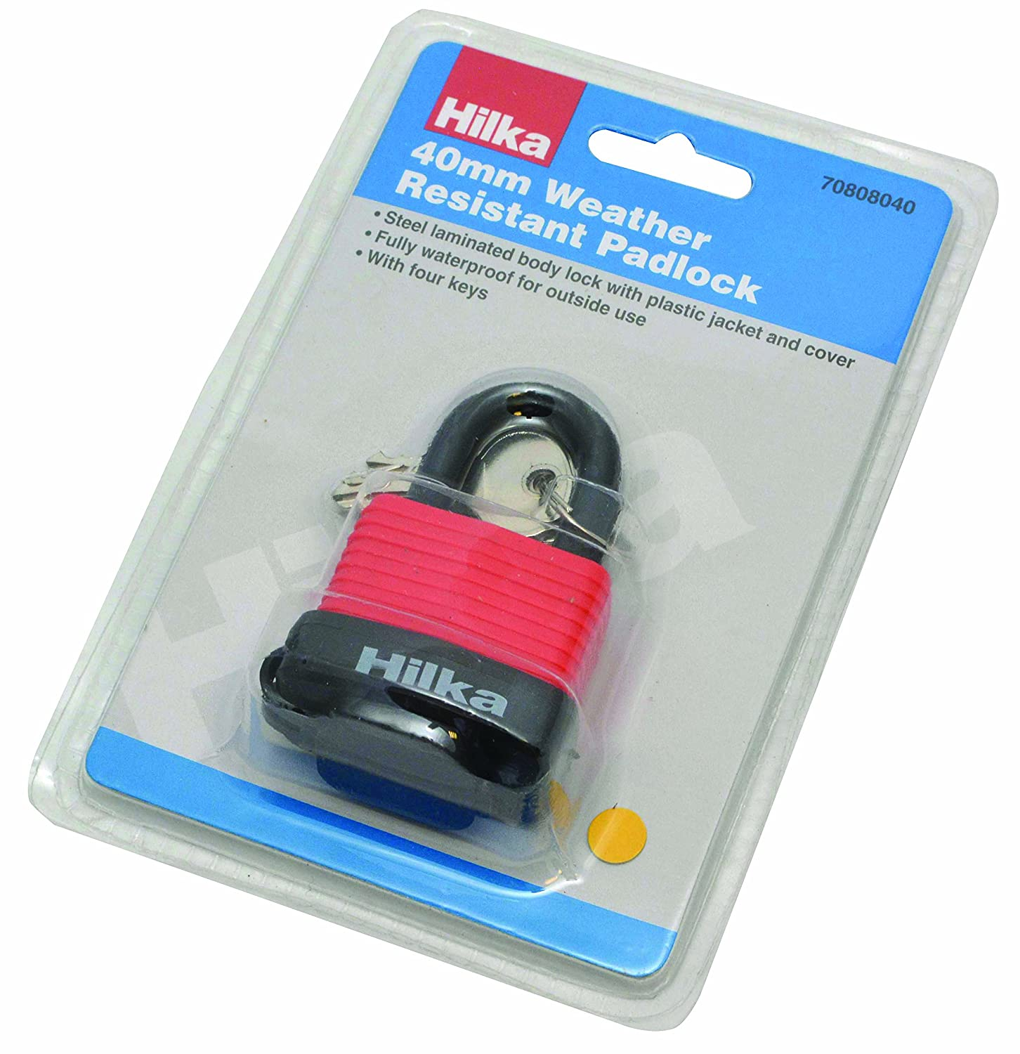 Hilka 70808040 40 mm Weather Resistant Padlock Hilka Tools (UK) Ltd