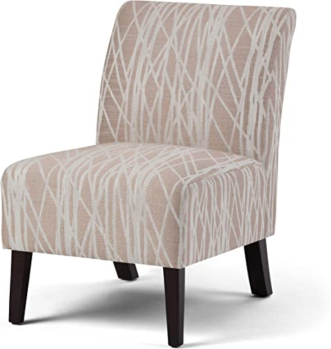 Simpli Home AXCCHR-008-BG Woodford 22 inch Wide Transitional Accent Chair