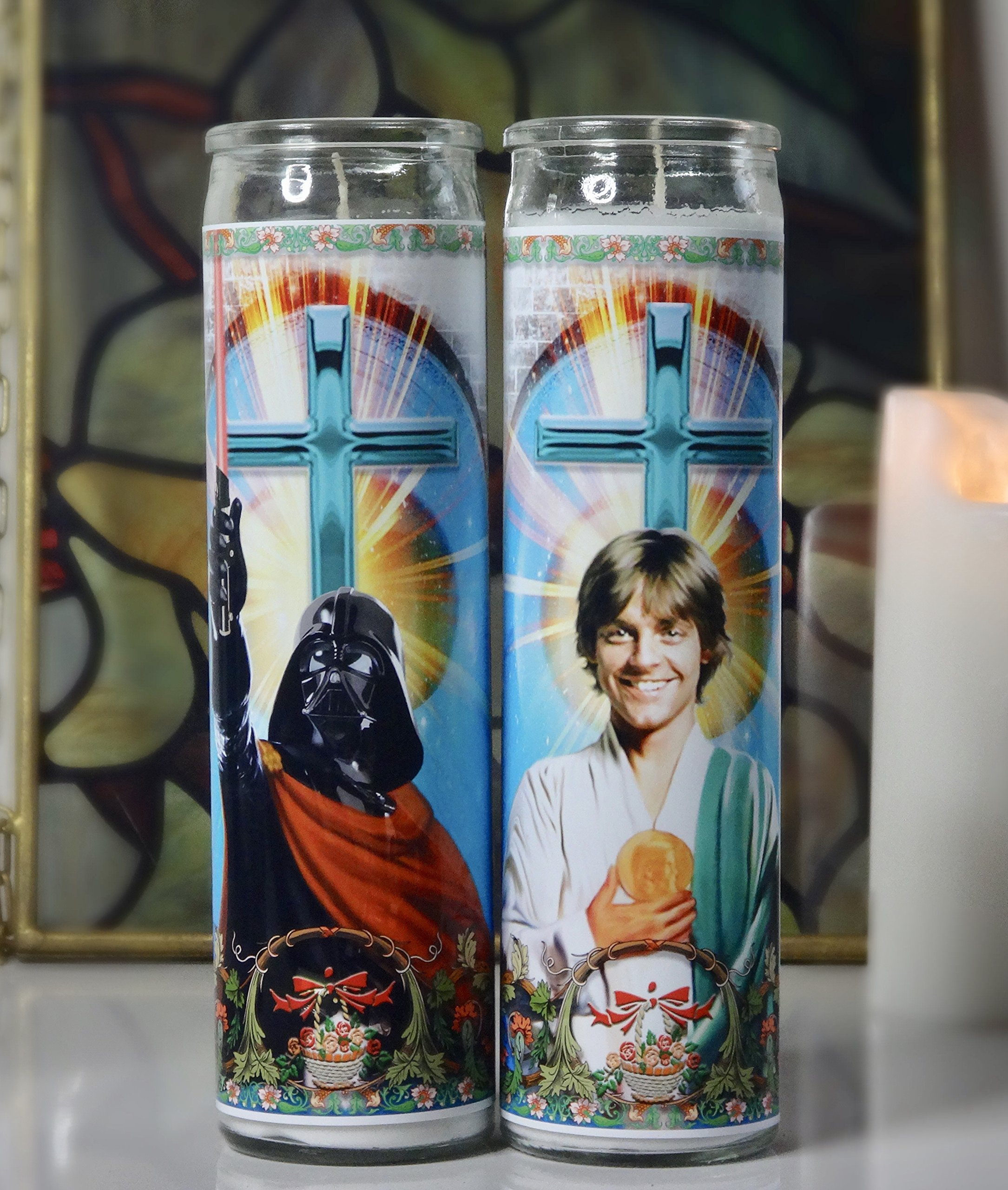 My Pen15 Club Luke Skywalker and Darth Vader Celebrity Prayer Candle Set - Star Wars