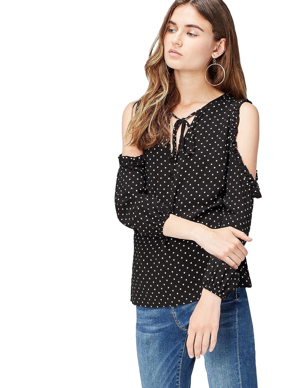 find. Blusa de Lunares con Hombros al Aire para Mujer