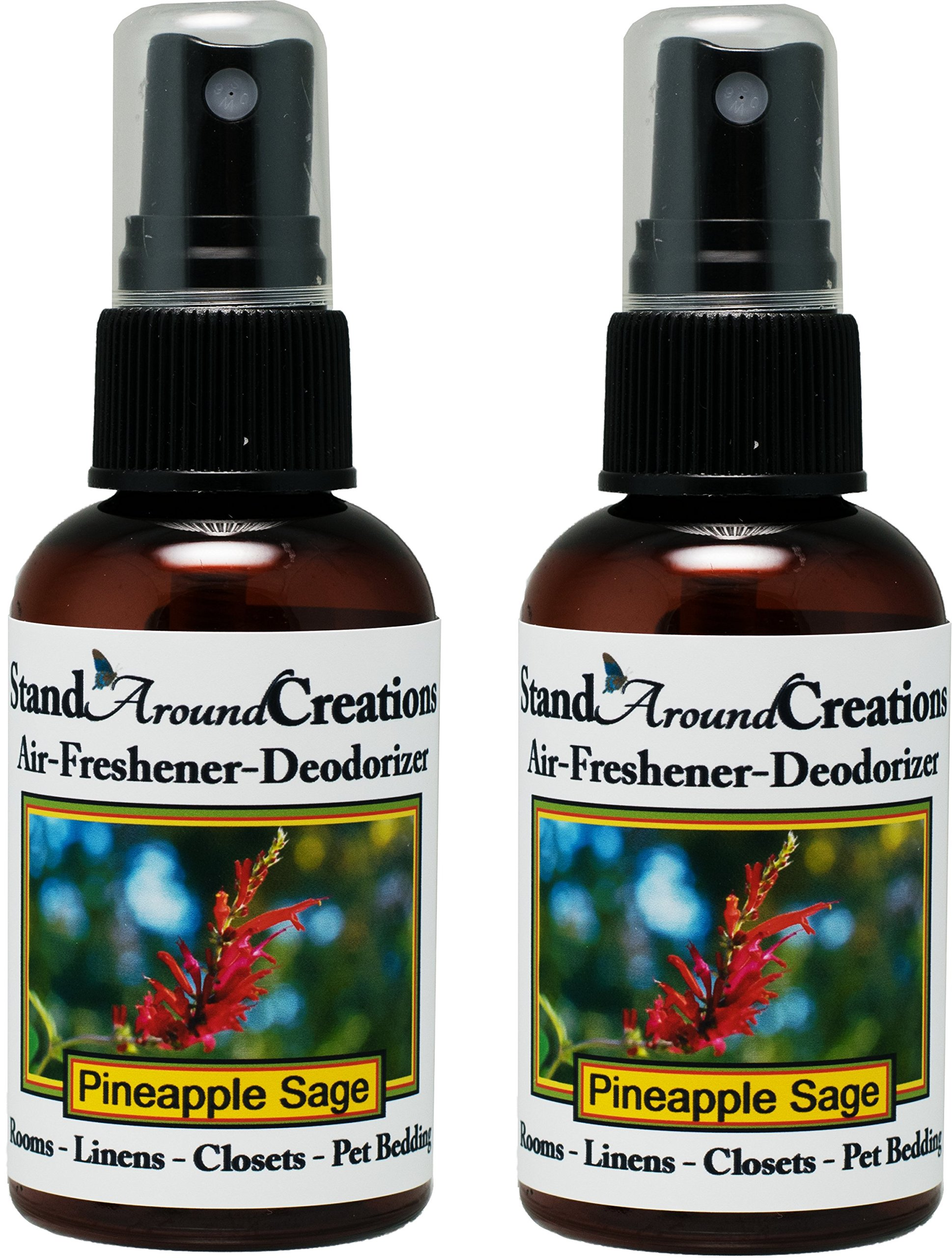 Set of 2 - Concentrated Spray For Room / Linen / Room Deodorizer / Air Freshener - 2 fl oz - Scent - Pineapple/Sage