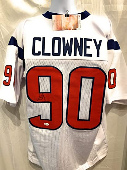 Jadeveon Clowney Houston Texans Signed Autograph White Custom Jersey JSA  Witnessed Certified afe0b6e04