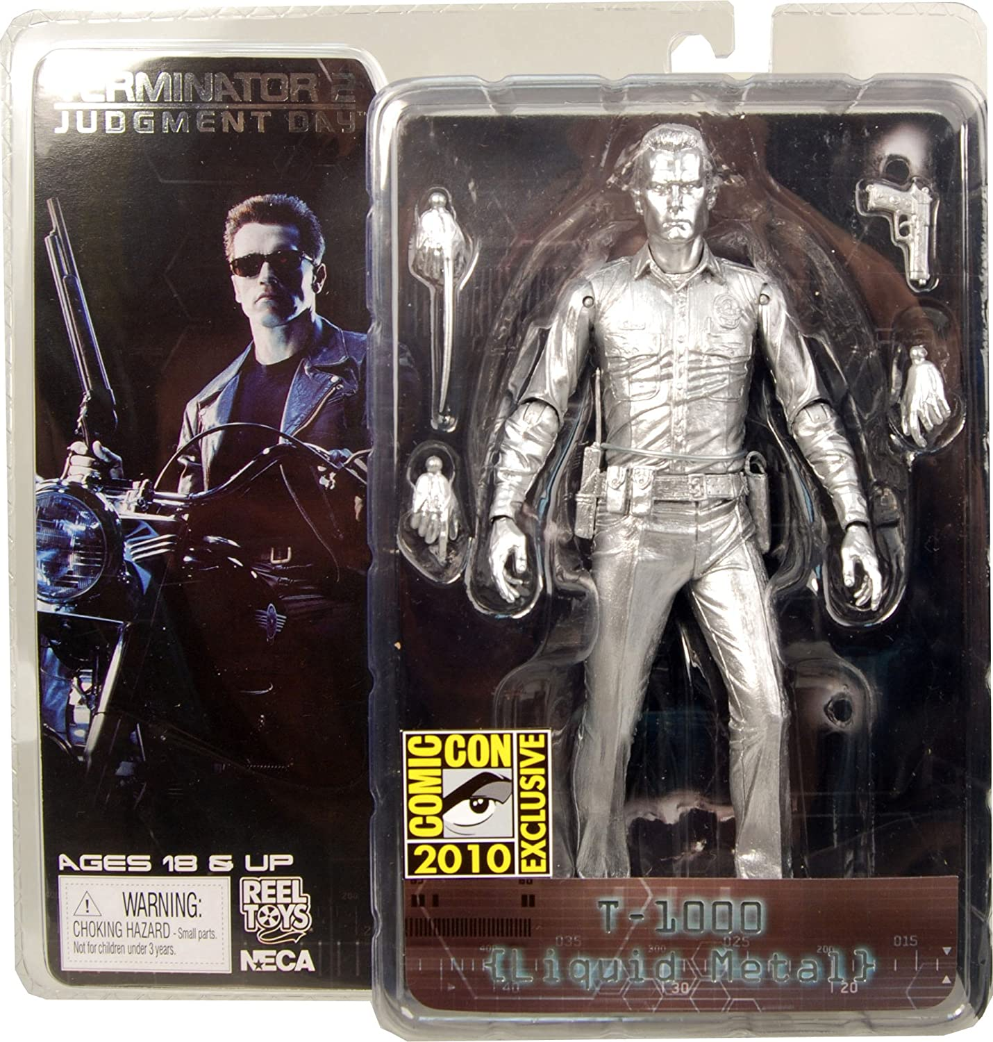 "Terminator 2-7/"" Action Figure Ultimate Terminator T-1000 NECA"