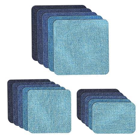 8ddcb13843 MUSCCCM Toppe termoadesive, 15 Pezzi Toppe Jeans per Vestiti Applicazioni  Fai da Te Fai Artigianato Jeans Patch Riparazione Kit Accessorio, 5 Colori