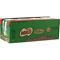MILO UHT Chocolate Malt Packet Drink, 200ml, Pack of 24