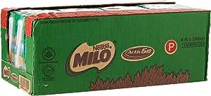 MILO UHT Chocolate Malt Packet Drink, 200ml (Pack of 24)