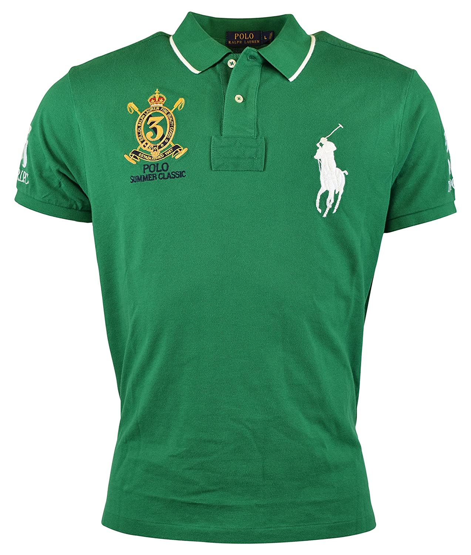 02425f7cf Polo Ralph Lauren Men s Custom-Fit Banner Polo Shirt