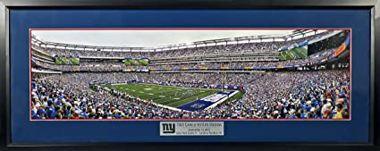 """2d4fcbce320 New York Giants """"First Game @ MetLife Stadium"""" Panoramic (Deluxe) Framed"""