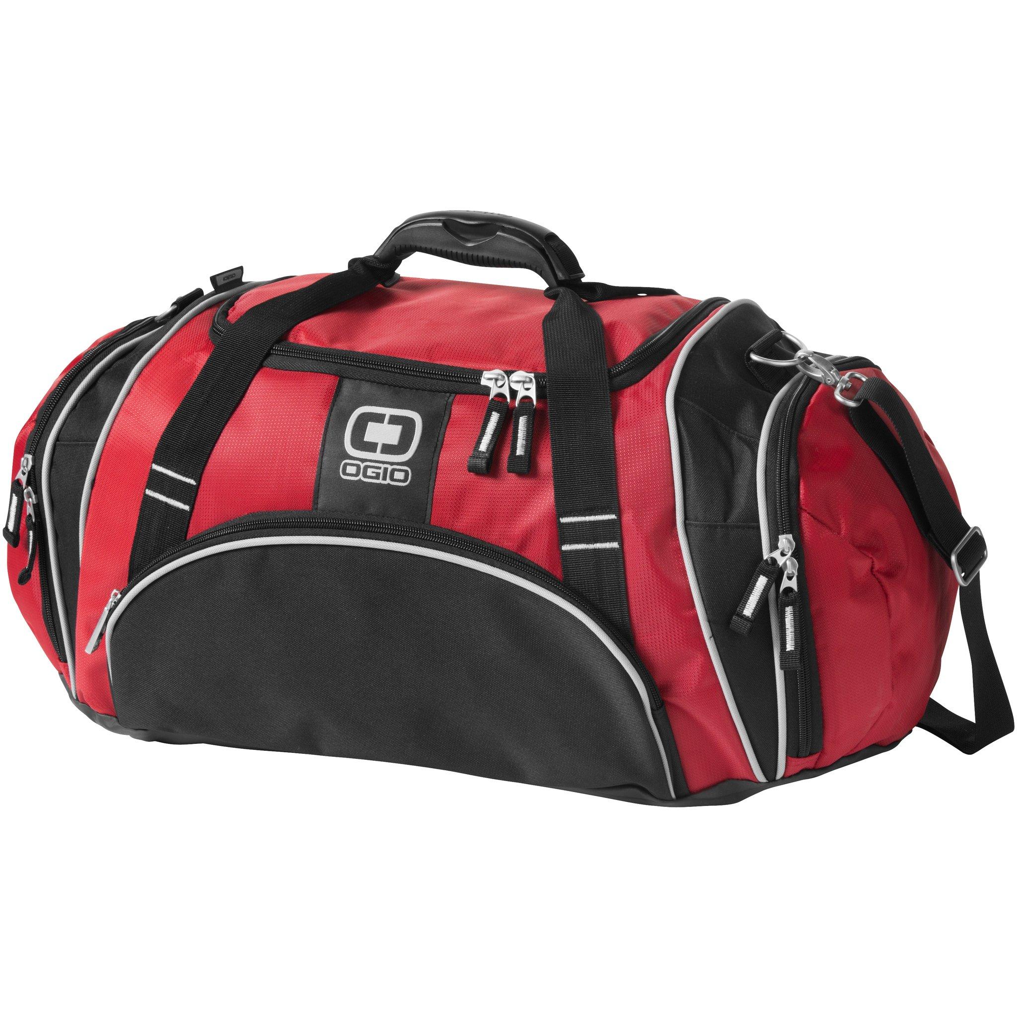 Ogio Crunch Duffel Bag (23.6 x 10 x 13 inches) (Red)