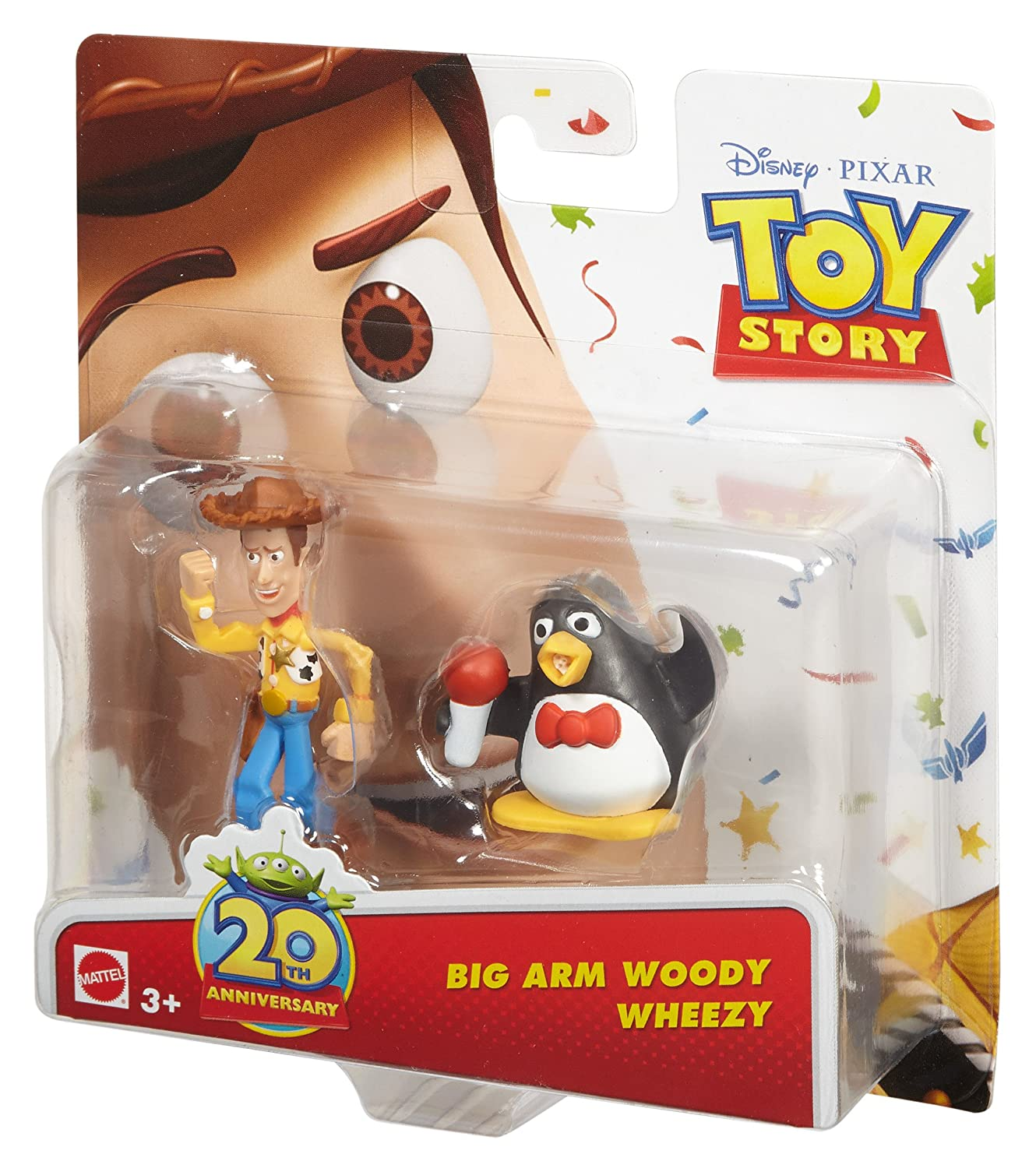 Mattel Disney Pixar Toy Story 20Th Anniversary Big Arm Woody and Wheezy  Figure Buddy 2-Pack c41507196a2