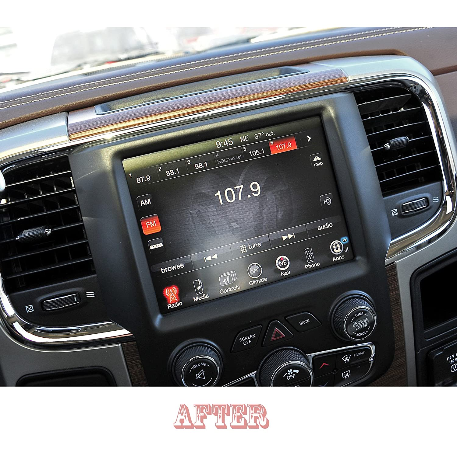 """2x 2018 2019 Ram 1500 2500 3500 8.4/"""" UCONNECT Infotainment Display Protector"""
