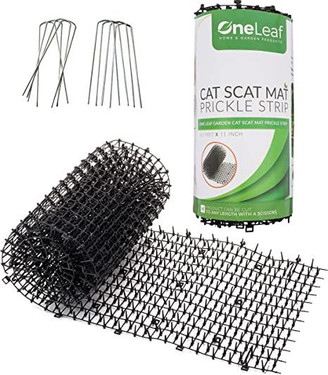 Homarden Cat Repellent Outdoor Scat Mat (6.5 ft) - Deterrent Scat Mats for Cats and Dogs - Indoor/Outdoor Deterrent Devices - Includes 8 Garden ...