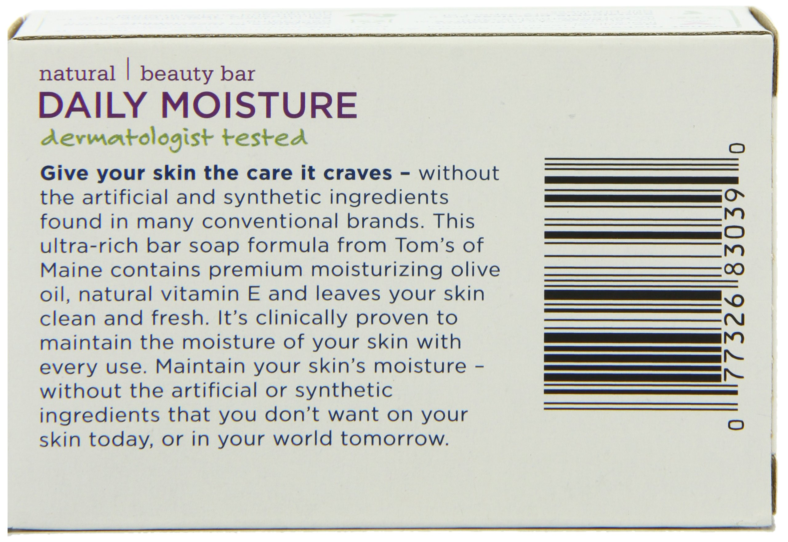 Tom's of Maine Moisturizing Bar Daily, 4-Ounce Bar, Pack of 6 by Tom's of Maine (Image #2)
