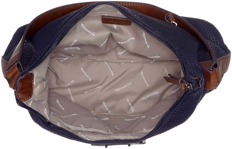 Damen Lee Hobo Bag Schultertasche, Blau (Navy Comb), 12x28x32 cm Tamaris