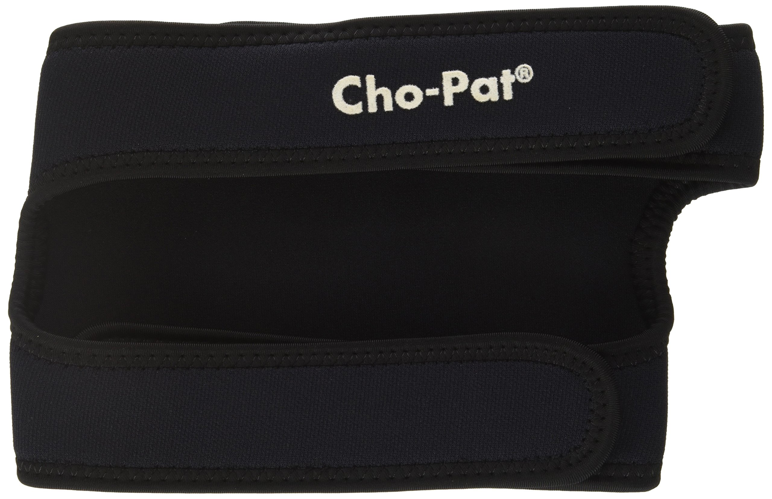 Cho-Pat Dual Action Knee Strap - Provides Full Mobility & Pain Relief For Weakened Knees - Black (XX-Large, 20''-22'')