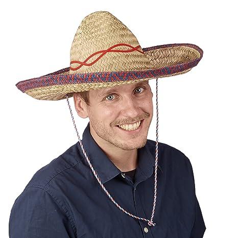 Relaxdays GmbH 10021527 cappello di paglia sombrero cappello messicano 257d1ae130ce