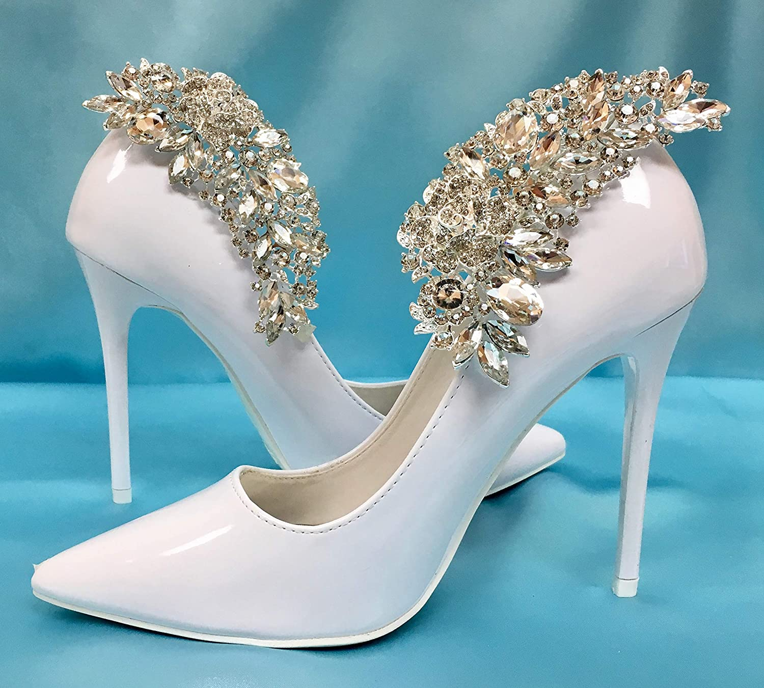 Mififi Shoe Clips Bridal shoe clips Crystal jewelry for shoes Wedding shoes  Shoes for Bride Wedding Crystal Jewelry Decorations