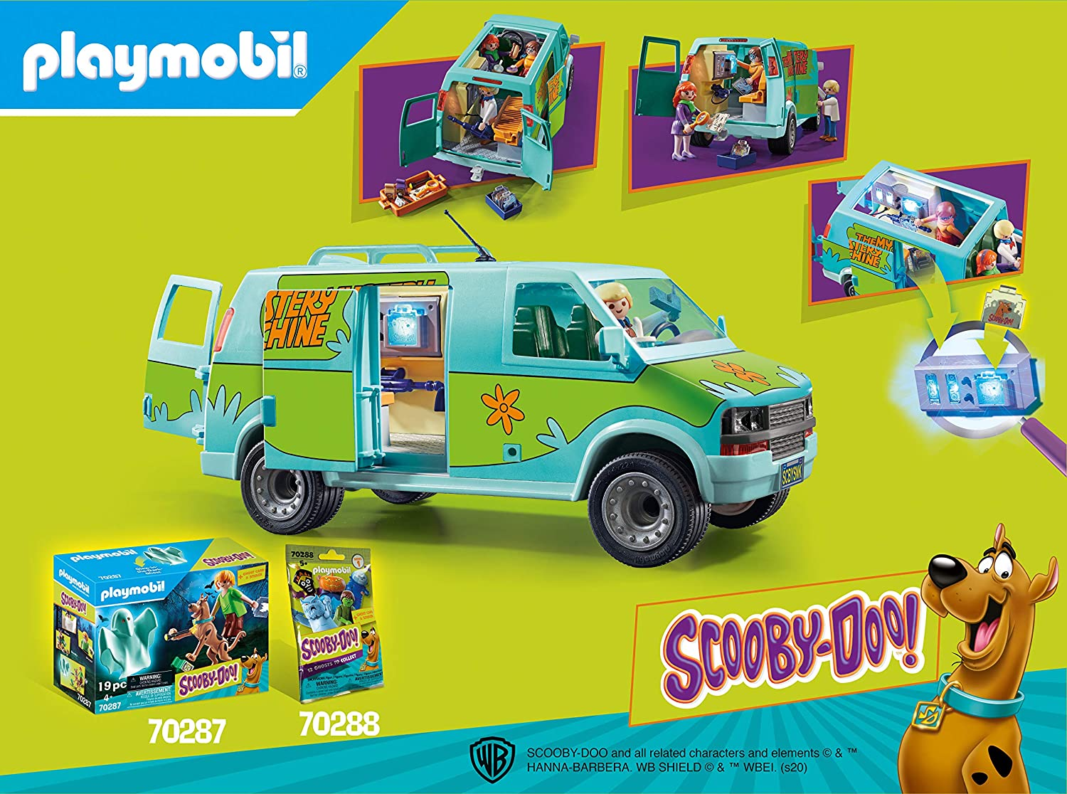 Playmobil Scooby-DOO! Mystery Machine: Toys & Games