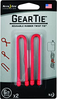 product image for Nite Ize Gt6-2Pk-10 Gear Tie, 6-Inch, Red, 2-Pack