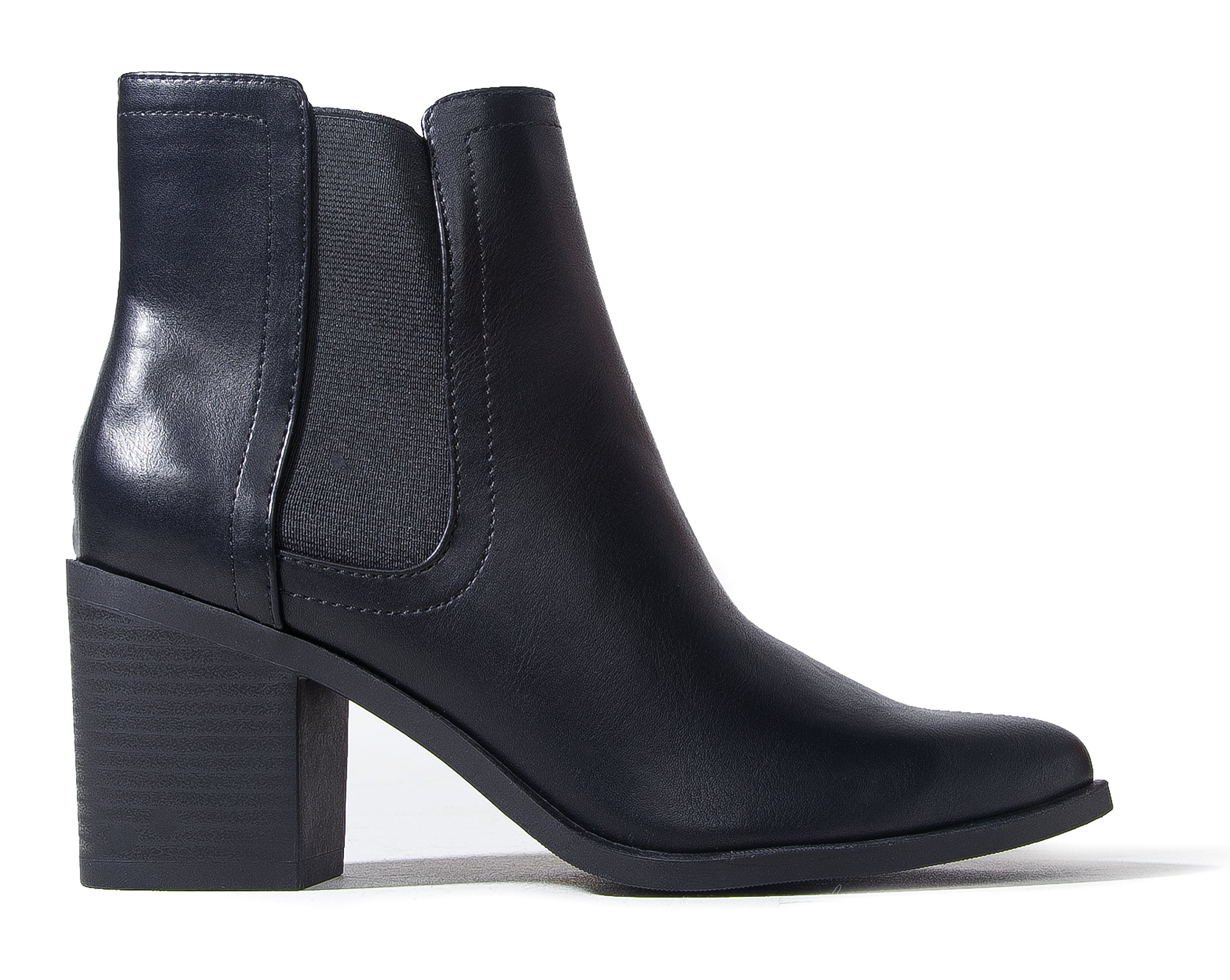 J. Adams Andi Chelsea Boot - Casual High Heel Pointed Toe Slip On Ankle Bootie