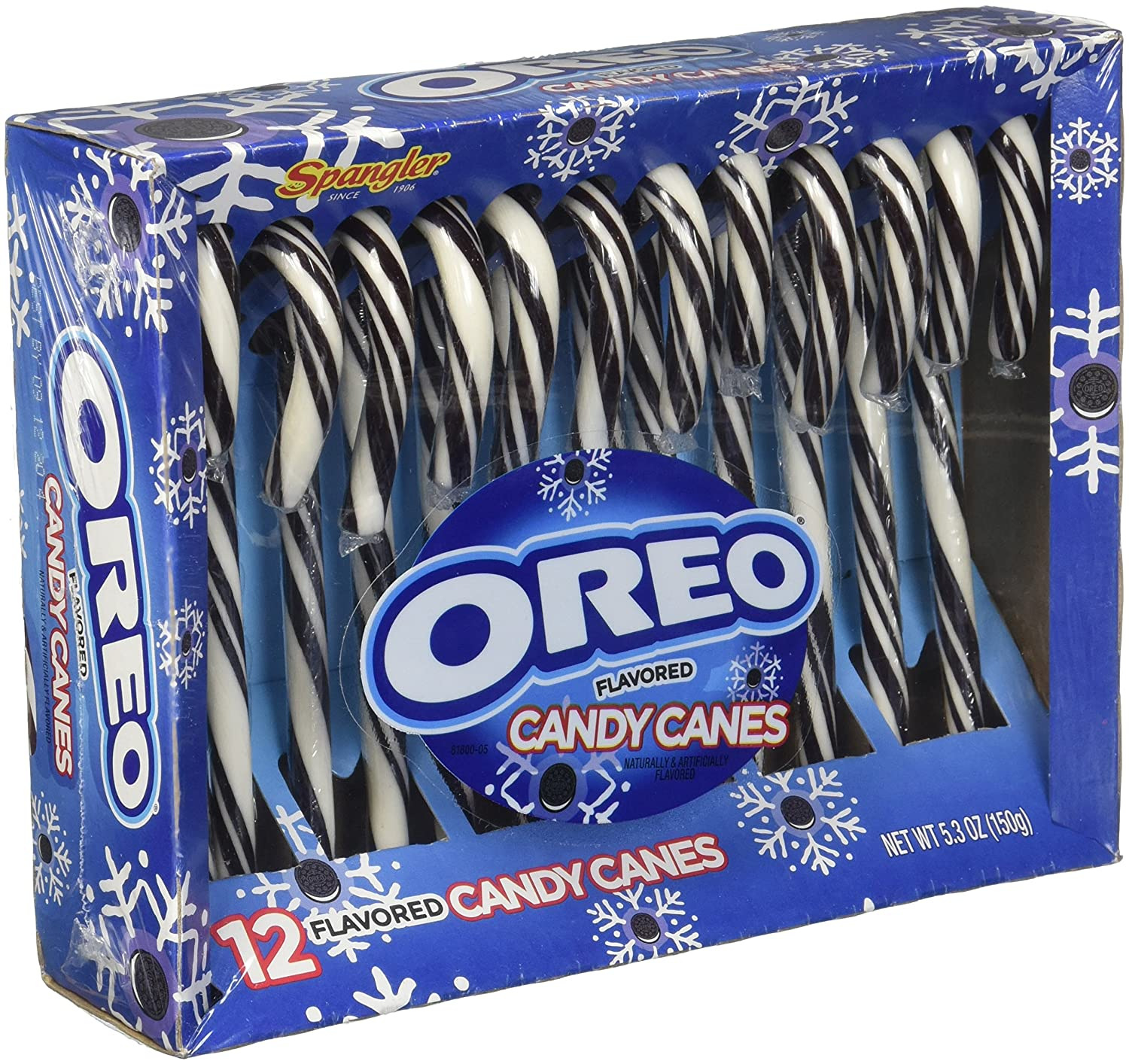 Spangler Oreo Flavored 12 Candy Canes Cookies And Cream Single Pack