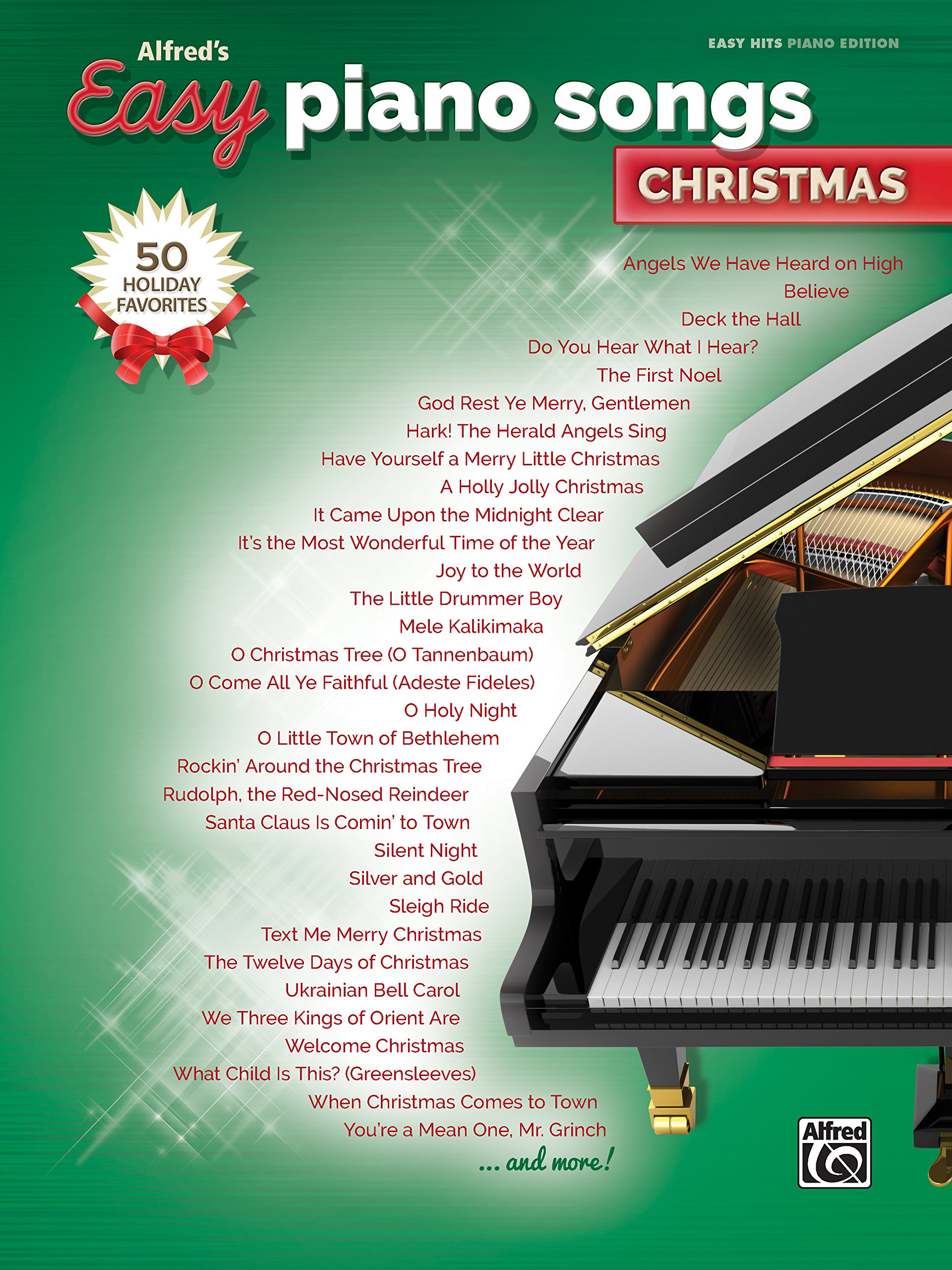 Alfreds Easy Piano Songs Christmas 50 Christmas Favorites