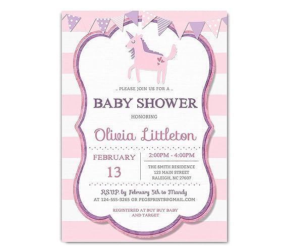 Amazon Unicorn Baby Shower Invitation Fairytale Baby Shower