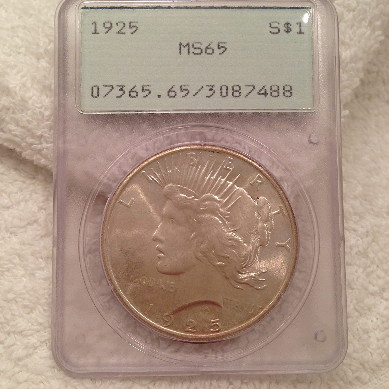 1923 US Peace Silver Dollar $1 PCGS MS65