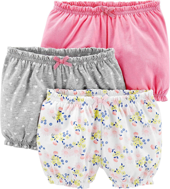 Simple Joys by Carters Lot de 3 Shorts de Cyclisme - B/éb/é Fille Lot de 3 Shorts de Cyclisme - Infant-and-Toddler-Shorts